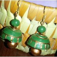 Green n gold terracotta hanging