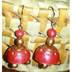 Red n gold terracotta hanging