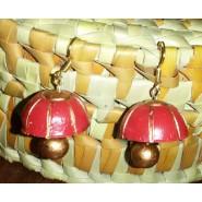 Red n gold terracotta earring