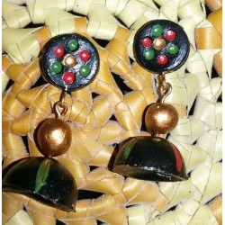 Black terracotta jhumka