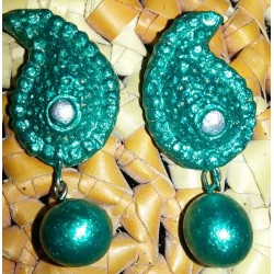 Green mango terracotta earring