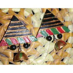 Black triangle earring