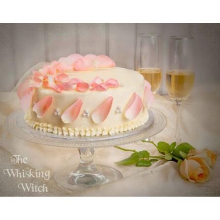 Rose Water & White Chocolate cake