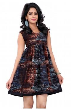 Black Fashion Polister western Dress