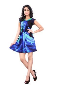 Blue Fashion Polister western Dress