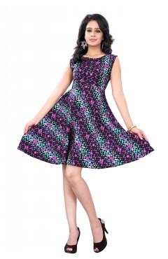 Multicolor Fashion Polister western Dress