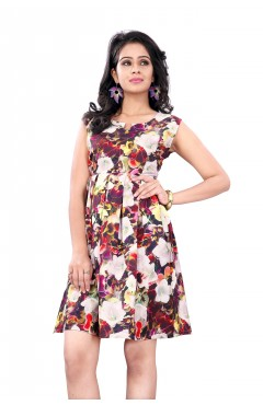 Multicolor Fashion Polister western Dress