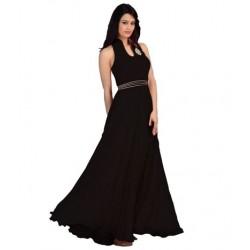 Black Fashion Velvet Gown