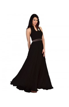 Black Fashion Velvet Gown