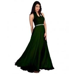 Green Fashion Velvet Gown