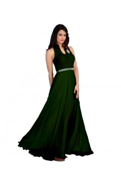 Green Fashion Velvet Gown