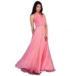 Pink Fashion Velvet Gown