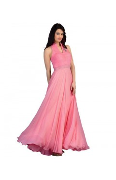Pink Fashion Velvet Gown