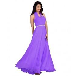 Purple Fashion Velvet Gown