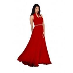 Red Fashion Velvet Gown