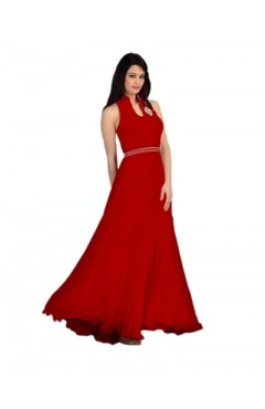 Red Fashion Velvet Gown