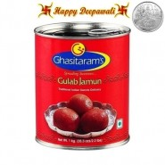 Diwali Special Gulab Jamun Tin 1kg with complimentary Silver Plated Coin