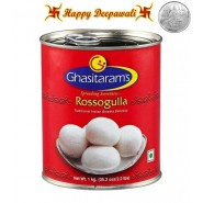 Diwali Special Rosogulla Tin 1 kg with complimentary Silver Plated Coin