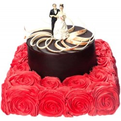 Adorable Rose Bed Cake 5 KG
