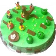 Angry Bird Garden Theme Cake 1 KG