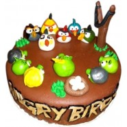 Angry Birds Theme Cake 1 KG