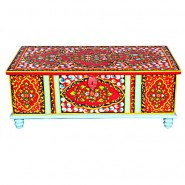Designer Hand Painted Trunk Box