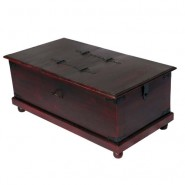 Trunk Box Made of Sheesham Wood in Antique Finish
