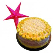 Pineapple Cake - 1kg with a Christmas star