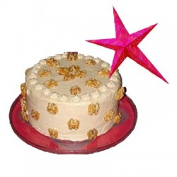 Butter Scotch Cake - 1 kg with a Christmas star