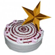 BlackCurrant Cake - 1 kg with a Christmas star