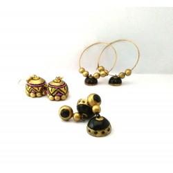Terracotta Earring Jumka Combo