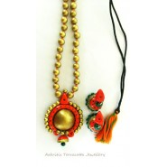 Grand Traditional Terracotta Jewelry Necklace Set