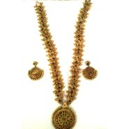 Grand Terracotta Jewelry Haram Necklace Set