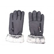 Leather Gloves With Far