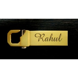 Matt Gold lock type 8Gb Customised pen drive
