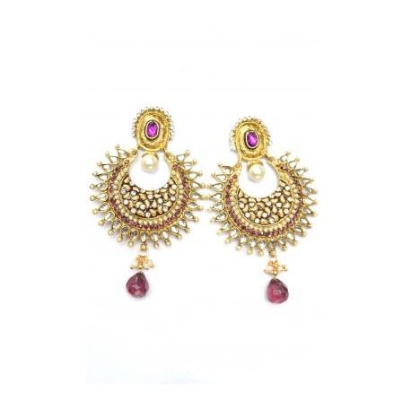 Violet Polki Earrings