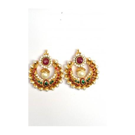 Multi Color Polki Earrings