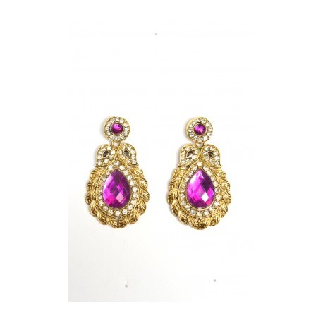 Violet Polki Earrings