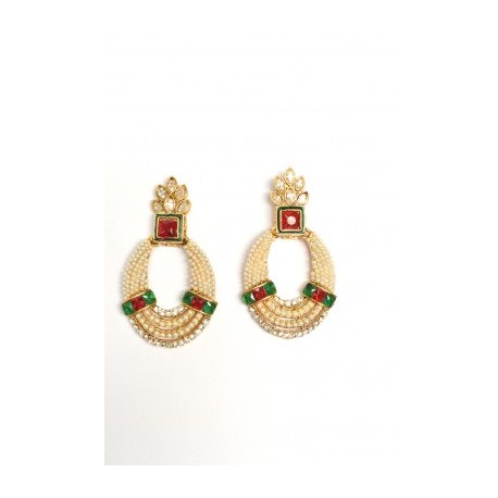Multi Color Polki Earrings