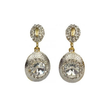 Stone Studded Chandelier Earrings