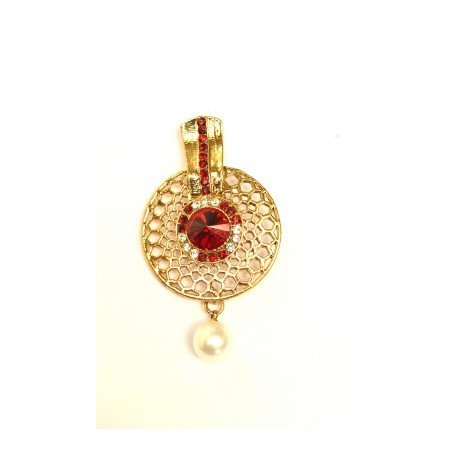 Red Chandelier Earrings