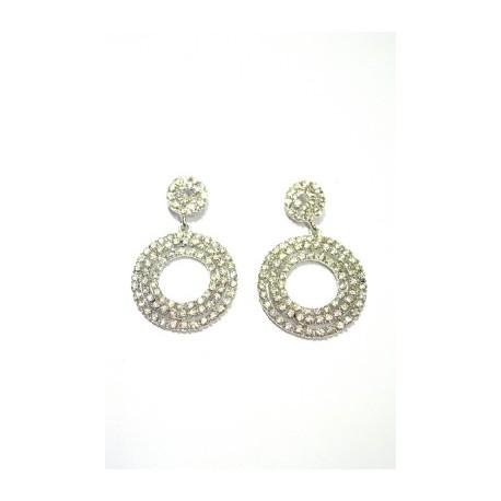 Stone Studded Chandelier Earrings