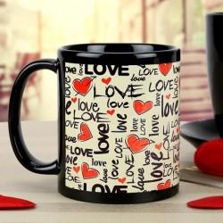 Love Black Mug.