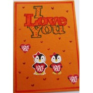 Penguin in love card - 1