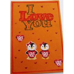 Penguin in love card - 1