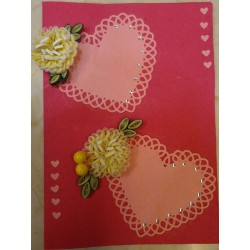 Quilling love  flower card