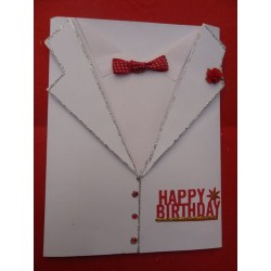 Tuxedo Birthday Card for Him