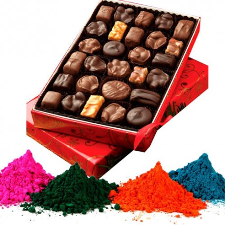 Colour and Rocher Combo - Holi Gifts Online