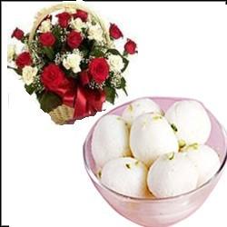 Bengali New Year Rose Basket