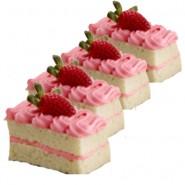 Strawberry Piece cakes- 6nos